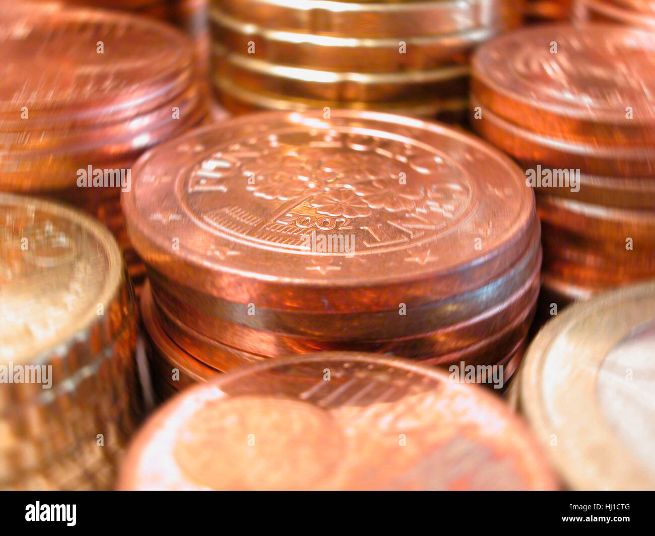 cent,geldstabel,münze,geldstabel,münze,münzen,euromünzen,euro,geld,bargeld,zahlungsmittel,finanzen Stock Photo