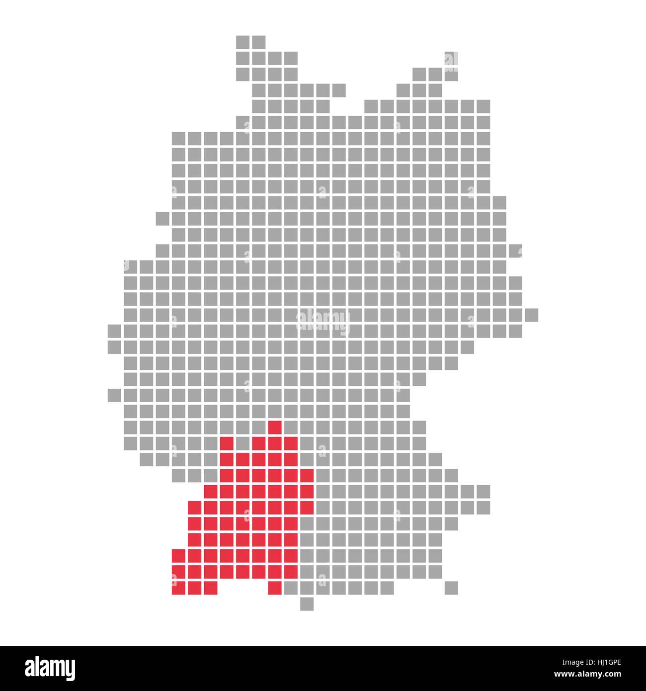 German States Map Stock Photos & German States Map Stock Images - Alamy