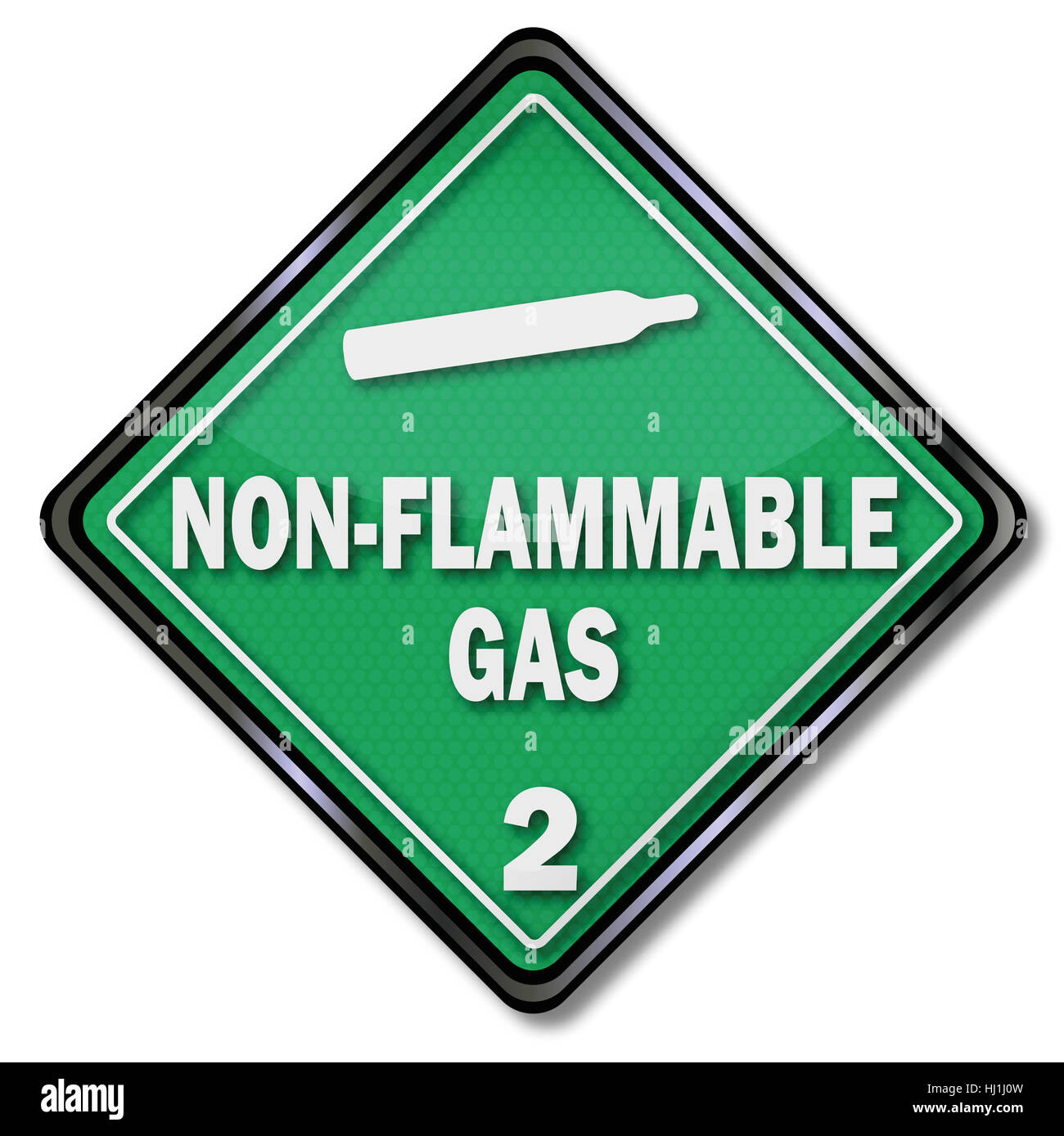 shield non-flammmable gas - Stock Image