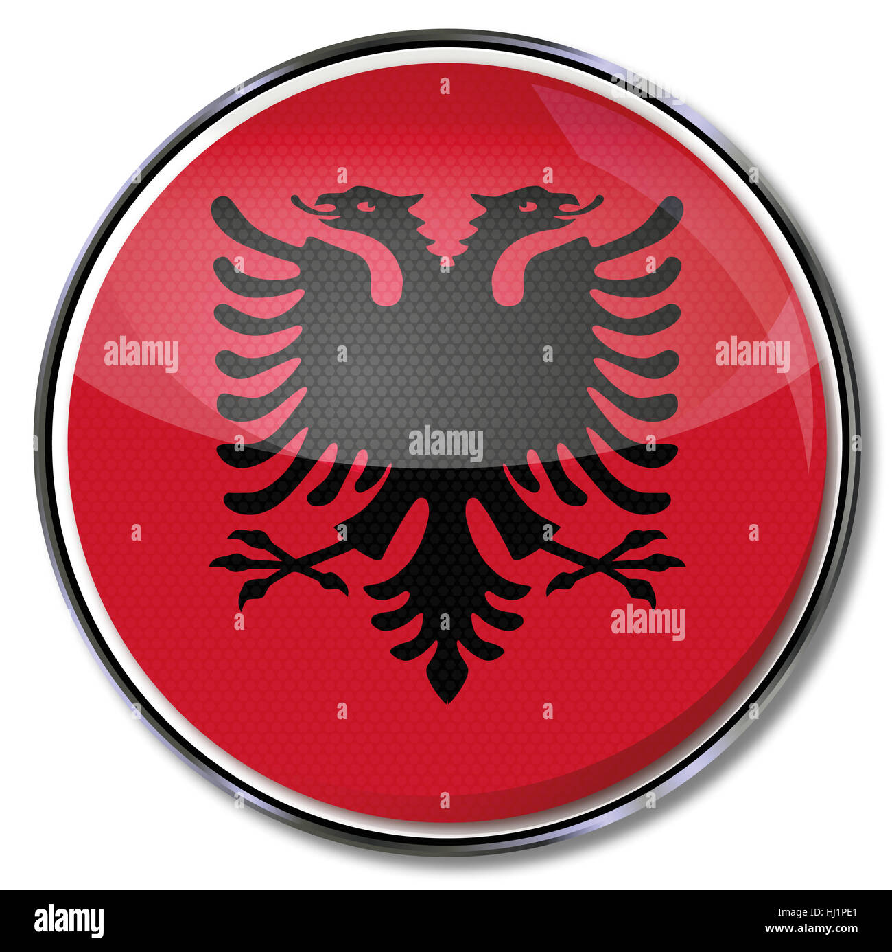 europe, flag, button, adriatic sea, albania, euro, europe, water, - Stock Image