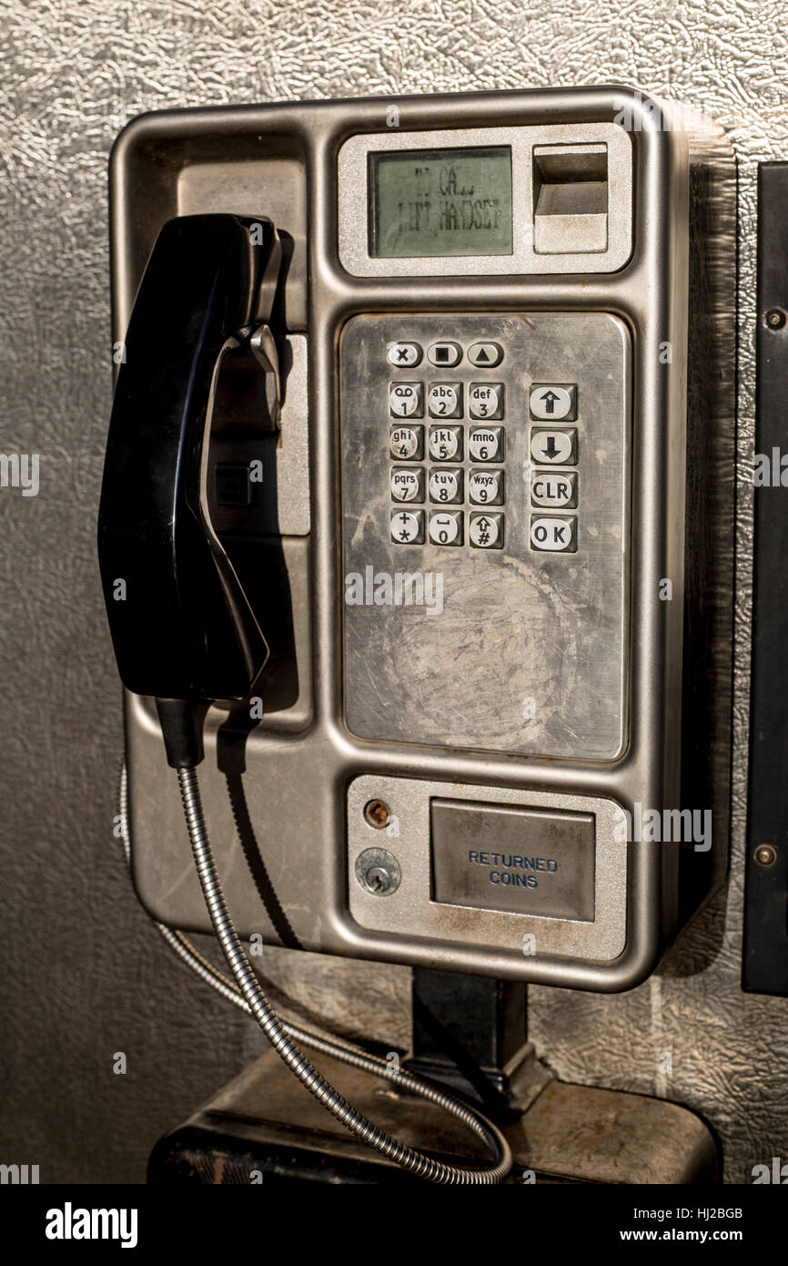 Payphone, Southend-on-sea, Essex - Stock Image