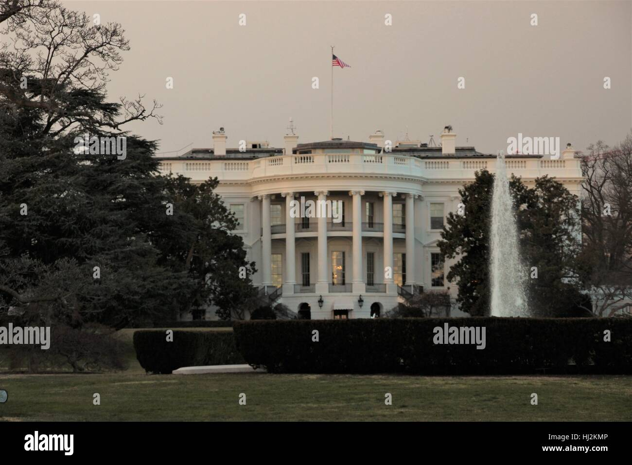 White House, official residence of the president of the United States of America - Stock Image