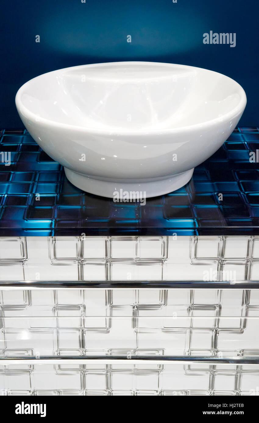 blue, flow, blank, european, caucasian, ceramic tiles, institution, bowl, Stock Photo