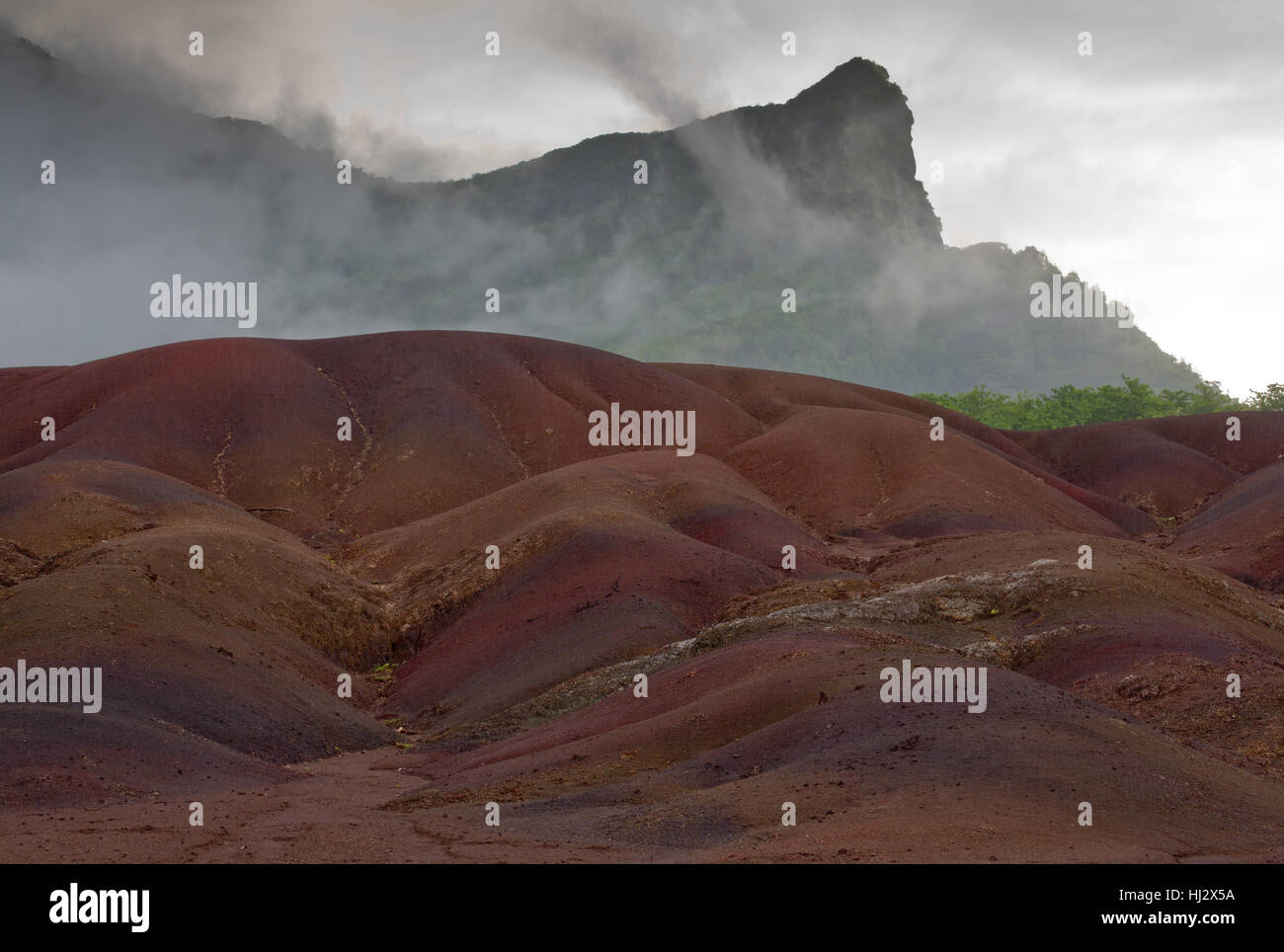 Chamarel's Coloured Earths - Stock Image