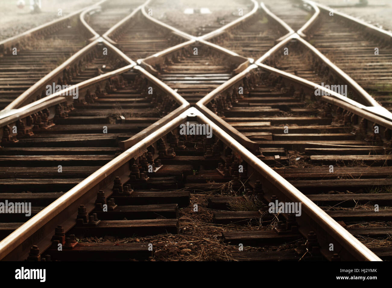industry, traffic, transportation, fog, rail, dusk, manufacturing, station, Stock Photo