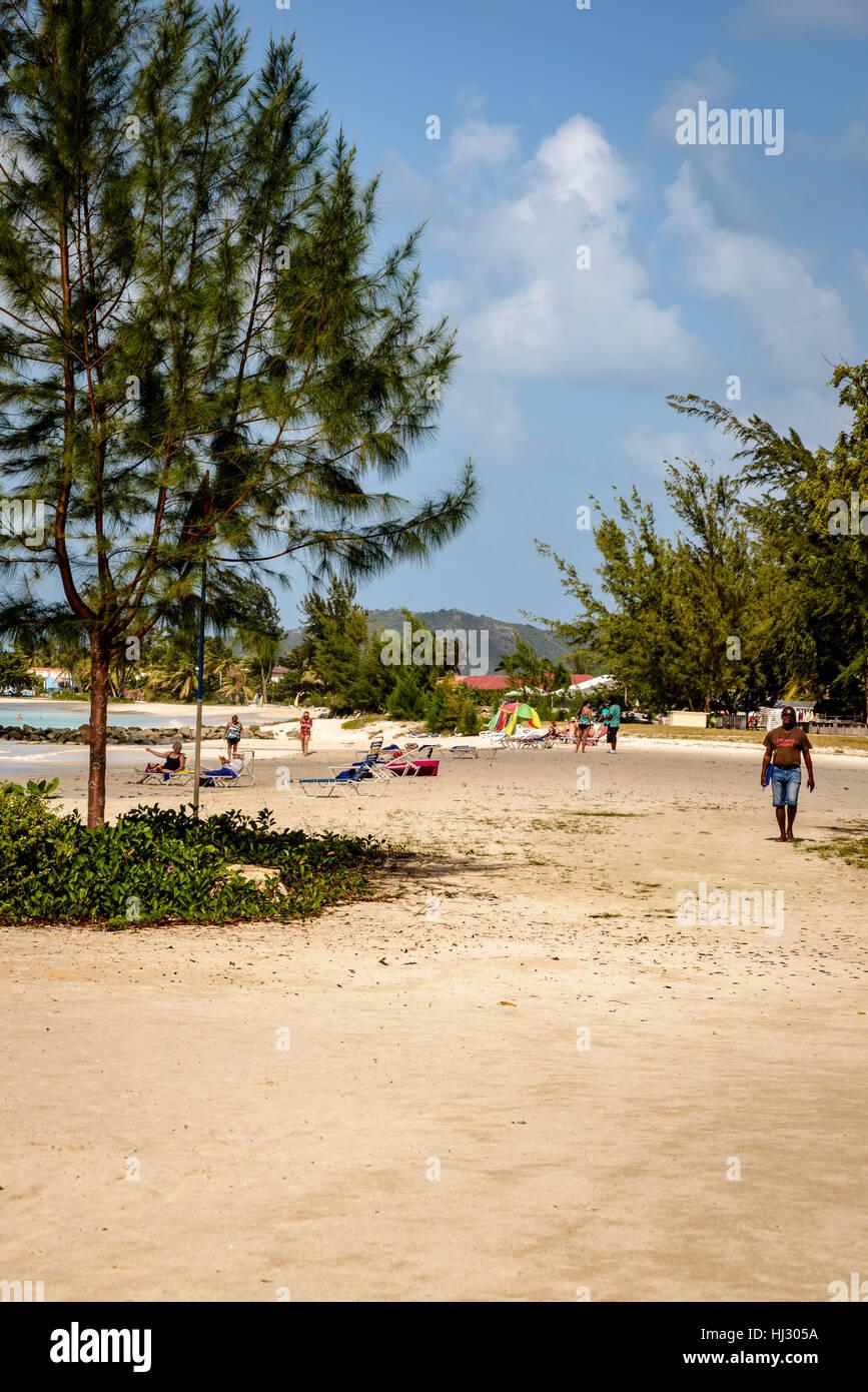 Jolly Beach, Jolly Harbour, Antigua - Stock Image
