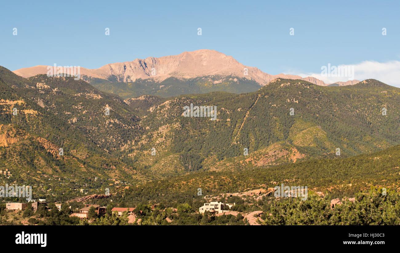 Pikes Peak, near Colorado Springs, Colorado. - Stock Image