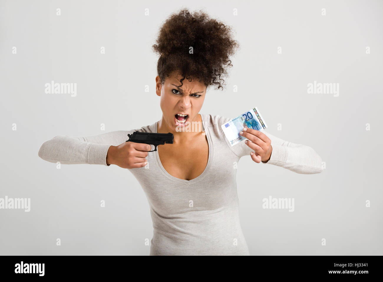 woman, bad, peccant, wickedly, evil, badly, poorly, anger, resentment, annoy, - Stock Image