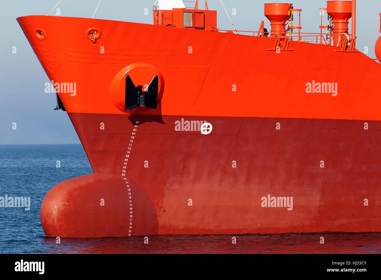 tanker on the kiel fjord,germany Stock Photo