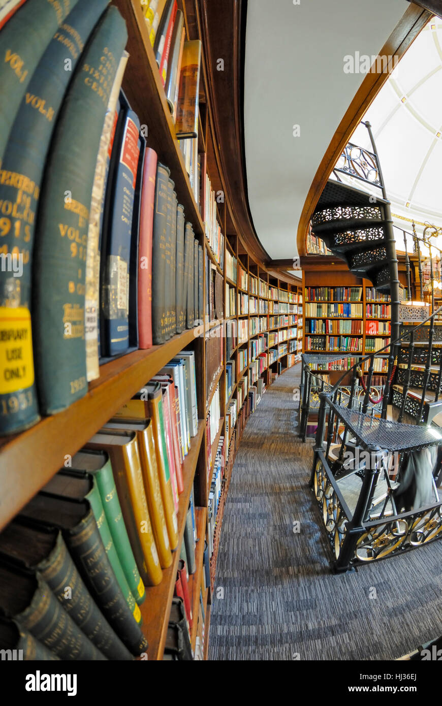 Picton Reading Room, part of Liverpool Central Library. Stock Photo