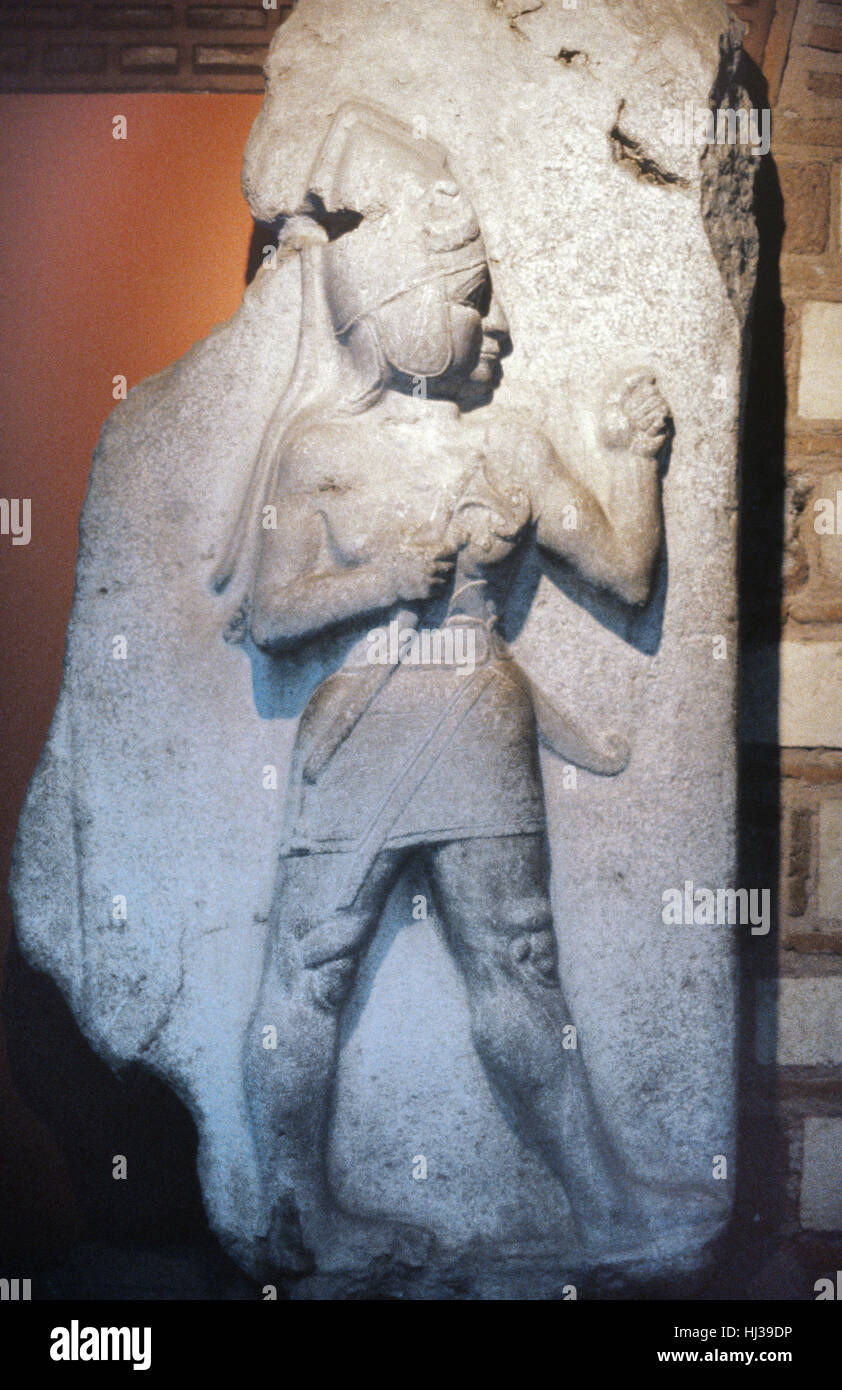 Hittite King or Figure with Dagger from the King's Gate of Bogazkale, formerly Bogazkoy or Boghazkoy, Site of the Stock Photo