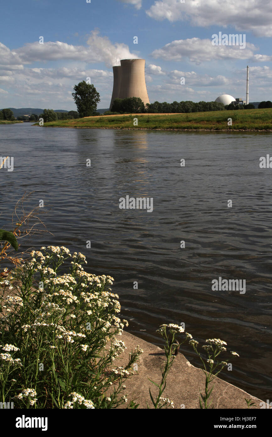 environment, enviroment, waters, dome, power station, cooling tower, water - Stock Image