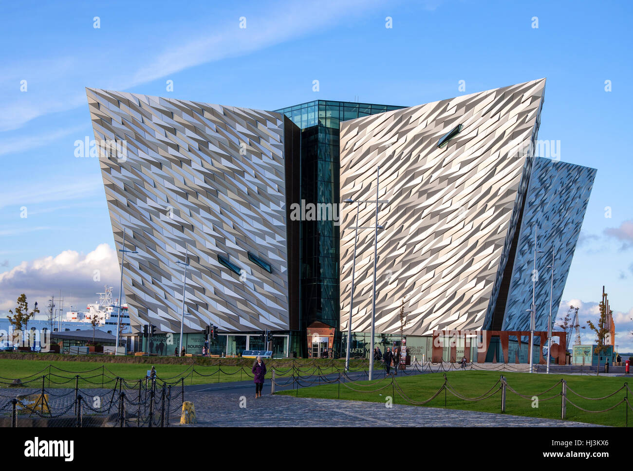BELFAST, NORTHERN IRELAND, UK – OCTOBER 2, 2016: Titanic multimedia museum and visitors' information center in Belfast - Stock Image