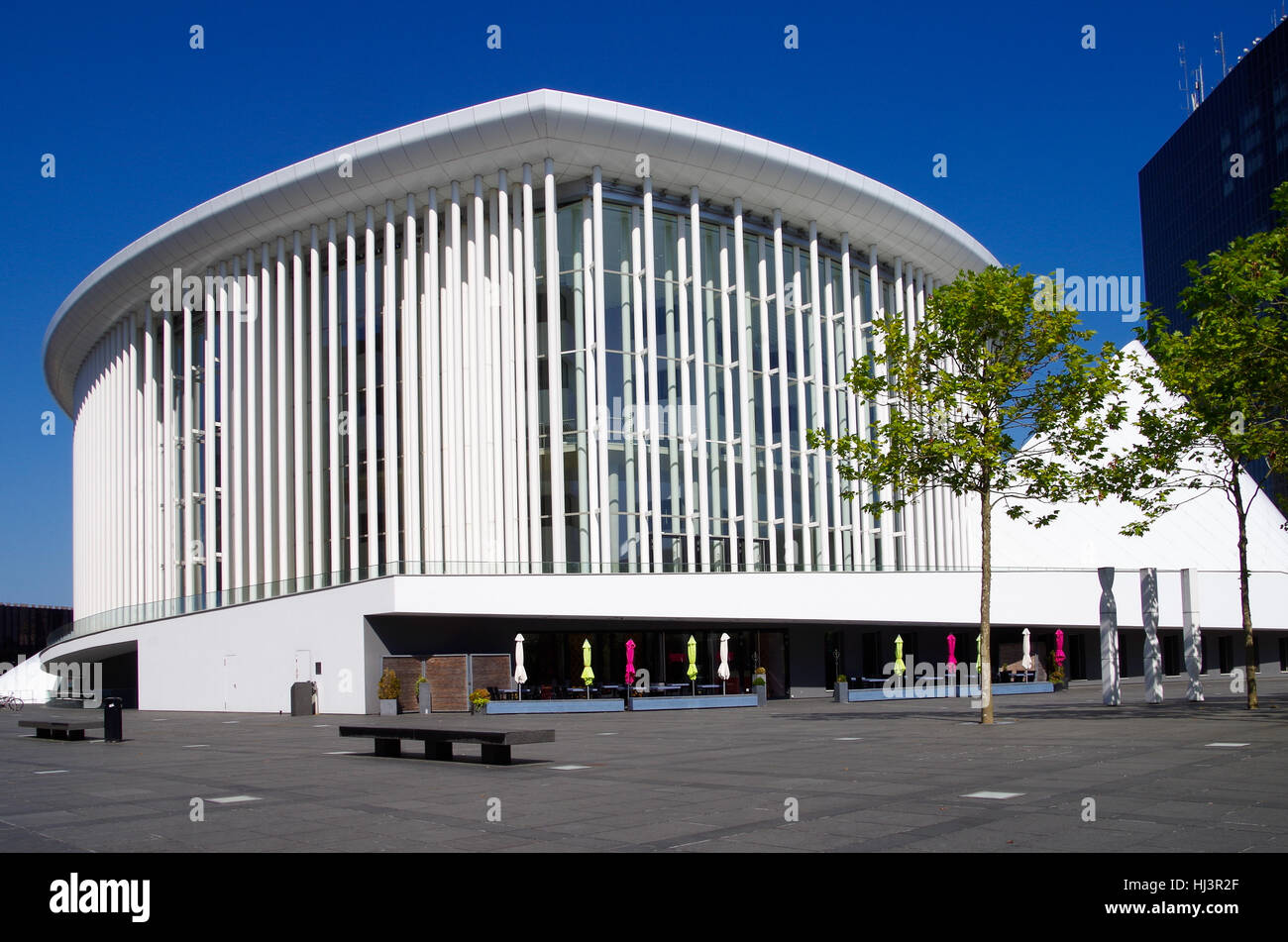 Philharmonie de Luxembourg on the Kirchberg plateau - Stock Image
