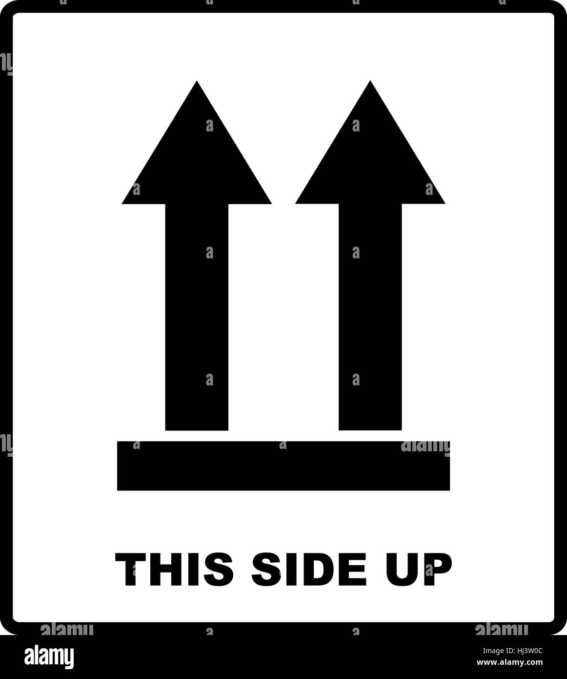 Top Side This Side Up Symbol Icon Of Side Up Sign Vector Stock