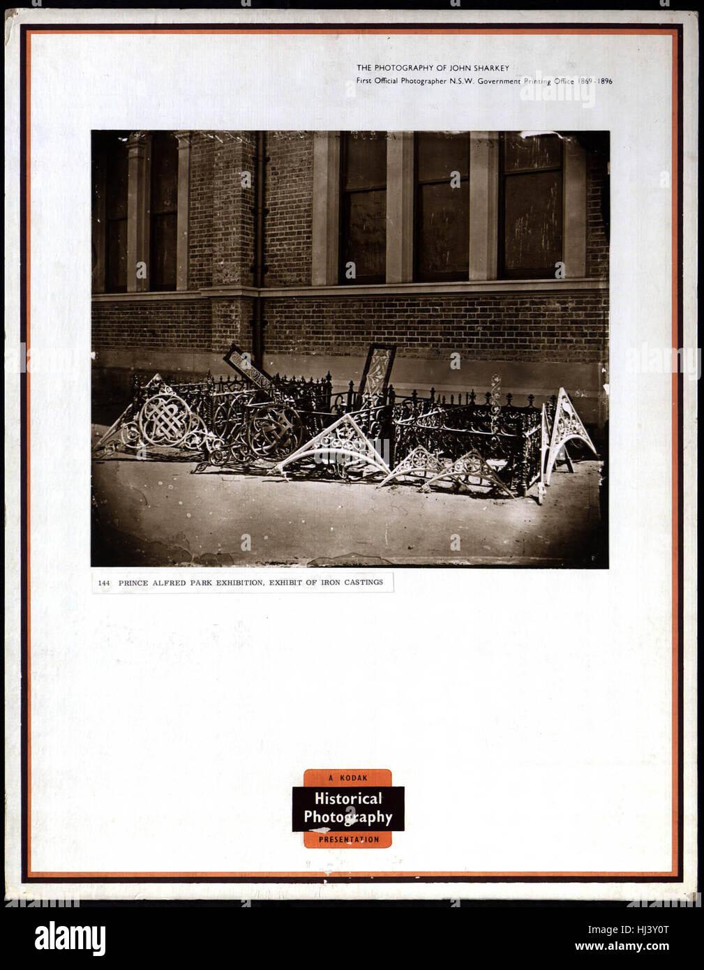 'Prince Albert Exhibition - Cast Iron Exhibition' John Sharkey - Stock Image