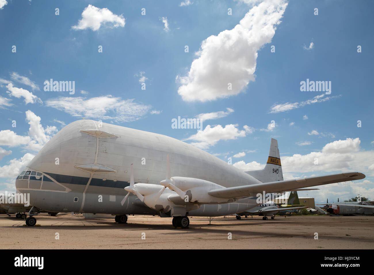 Aero Spacelines B-377SG Super Guppy Cargo Transport (1965 - 1995) on display at Pima Air & Space Museum - Stock Image