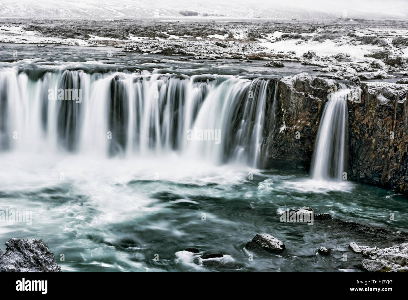 Godafoss waterfall in Iceland - Stock Image