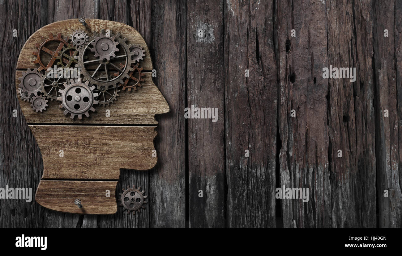 brain function, psychology, memory or mental activity concept - Stock Image