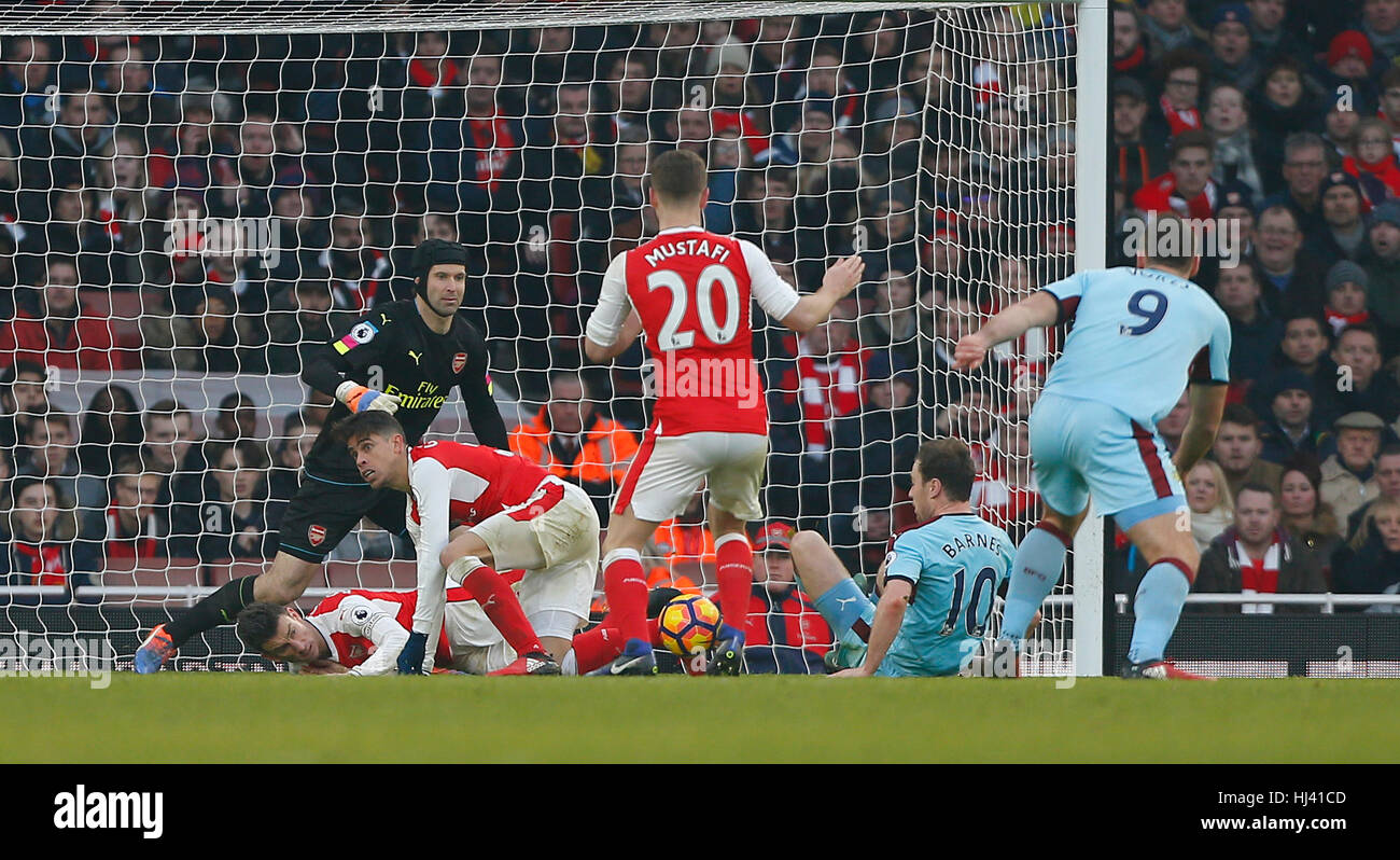 Arsenal v Burnley Emitated Stadium in London. EDITORIAL USE ONLY - Stock Image