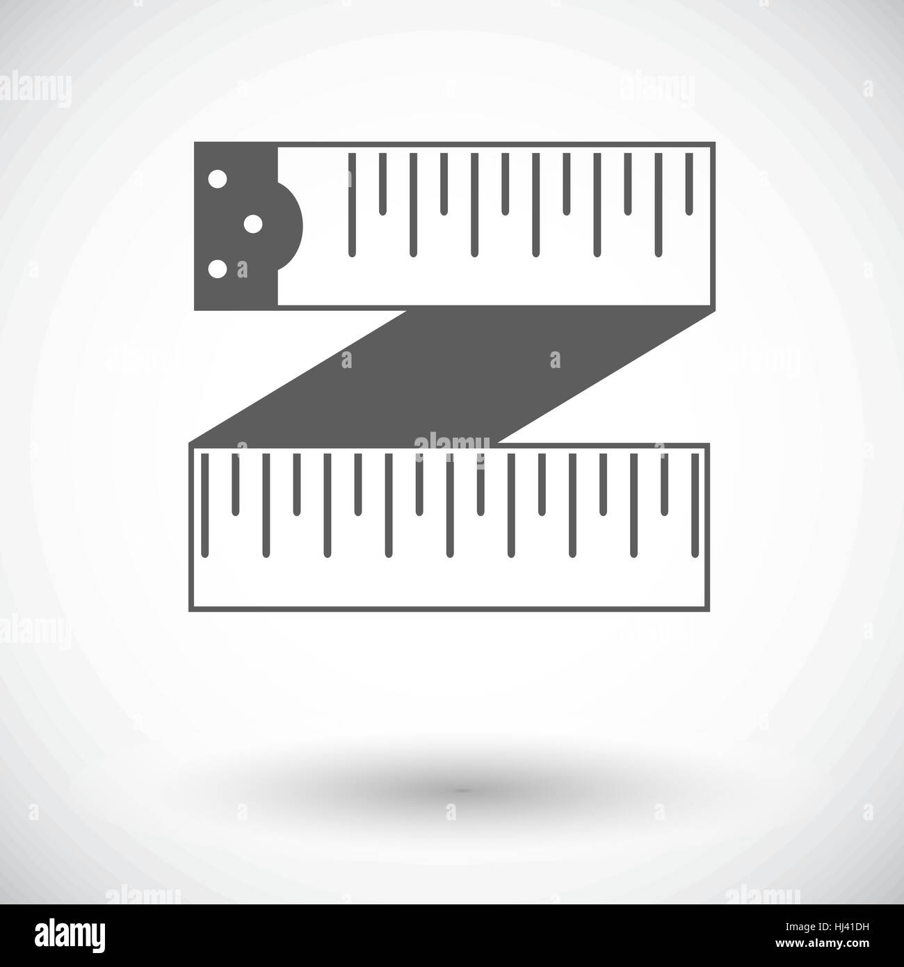 Centimetr. Single flat icon on white background. Vector illustration. - Stock Vector