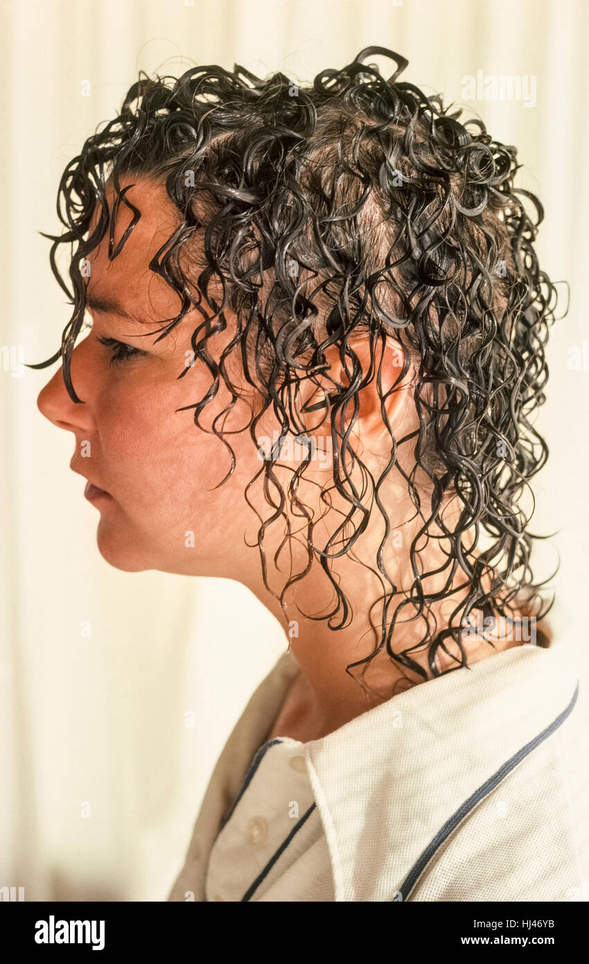 Perm Hair Style High Resolution Stock Photography And Images Alamy