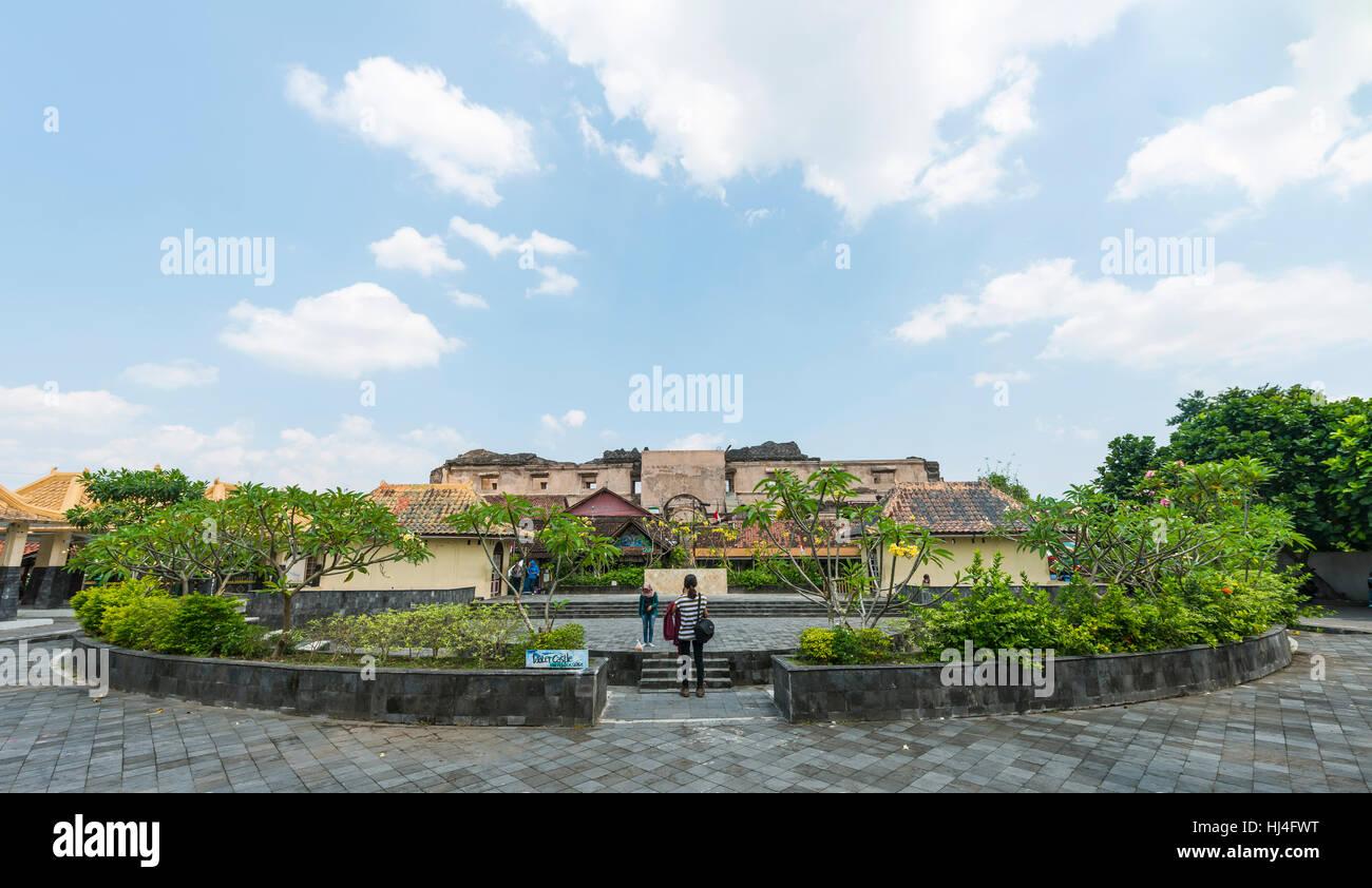 Forecourt, Plataran Taman Sari, ruins of Taman Sari Water Castle, Yogyakarta, Java, Indonesia - Stock Image