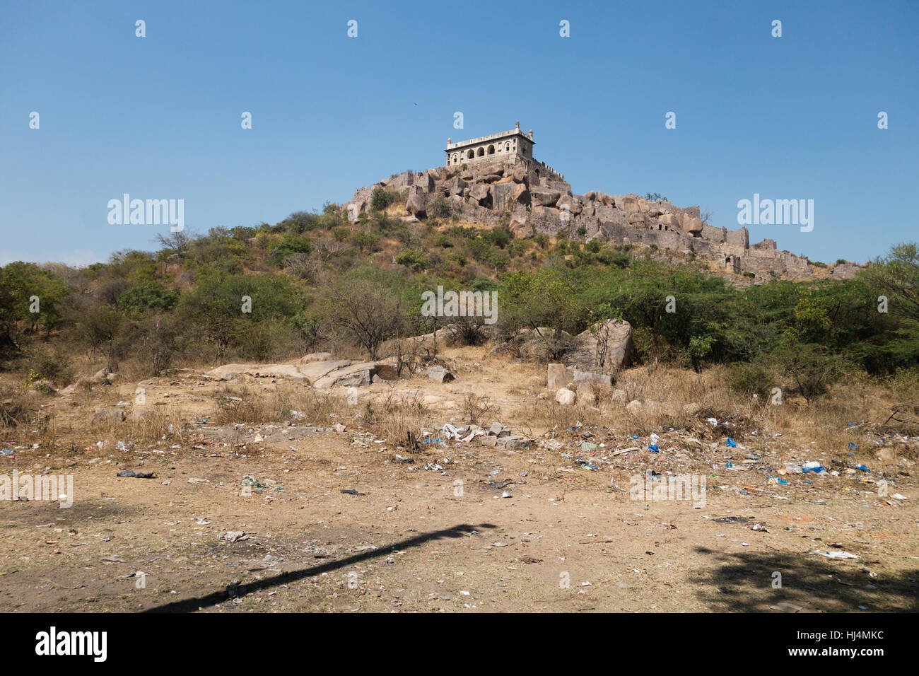 400 year old Golconda Fort in Hyderabad,India - Stock Image