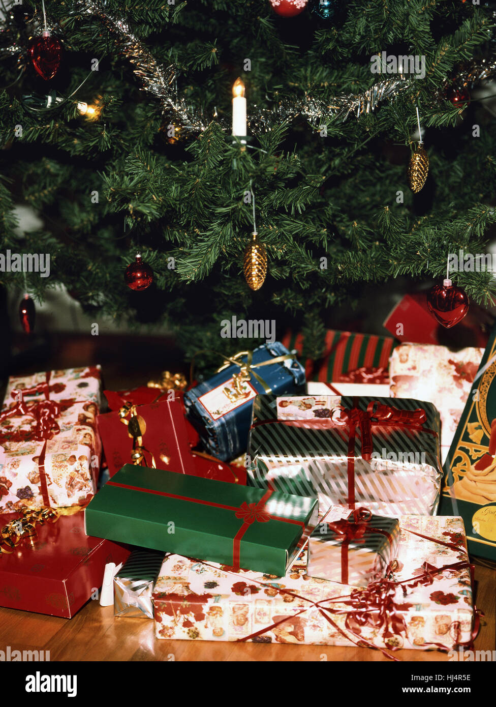 christmas packages under the christmas tree 2015 stock image - Christmas Packages