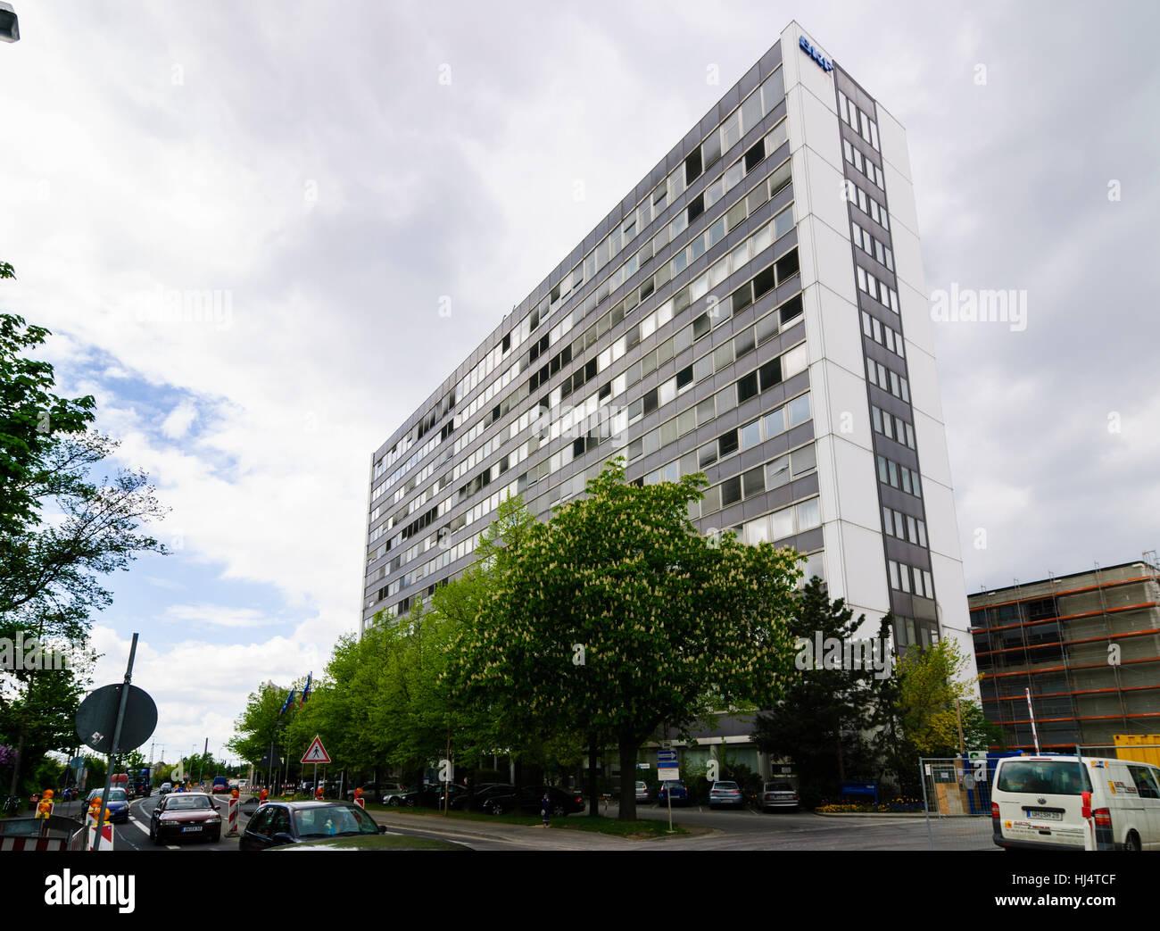 Schweinfurt: Company headquarters of SKF rolling bearing manufacturer (Svenska Kullagerfabriken), Unterfranken, - Stock Image