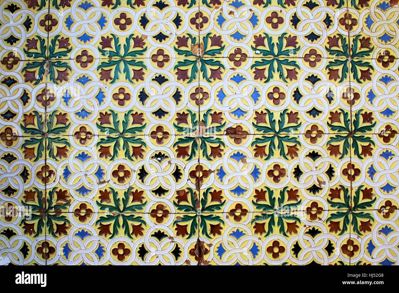 Coloured Ceramics Tiles Stock Photos Coloured Ceramics Tiles Stock