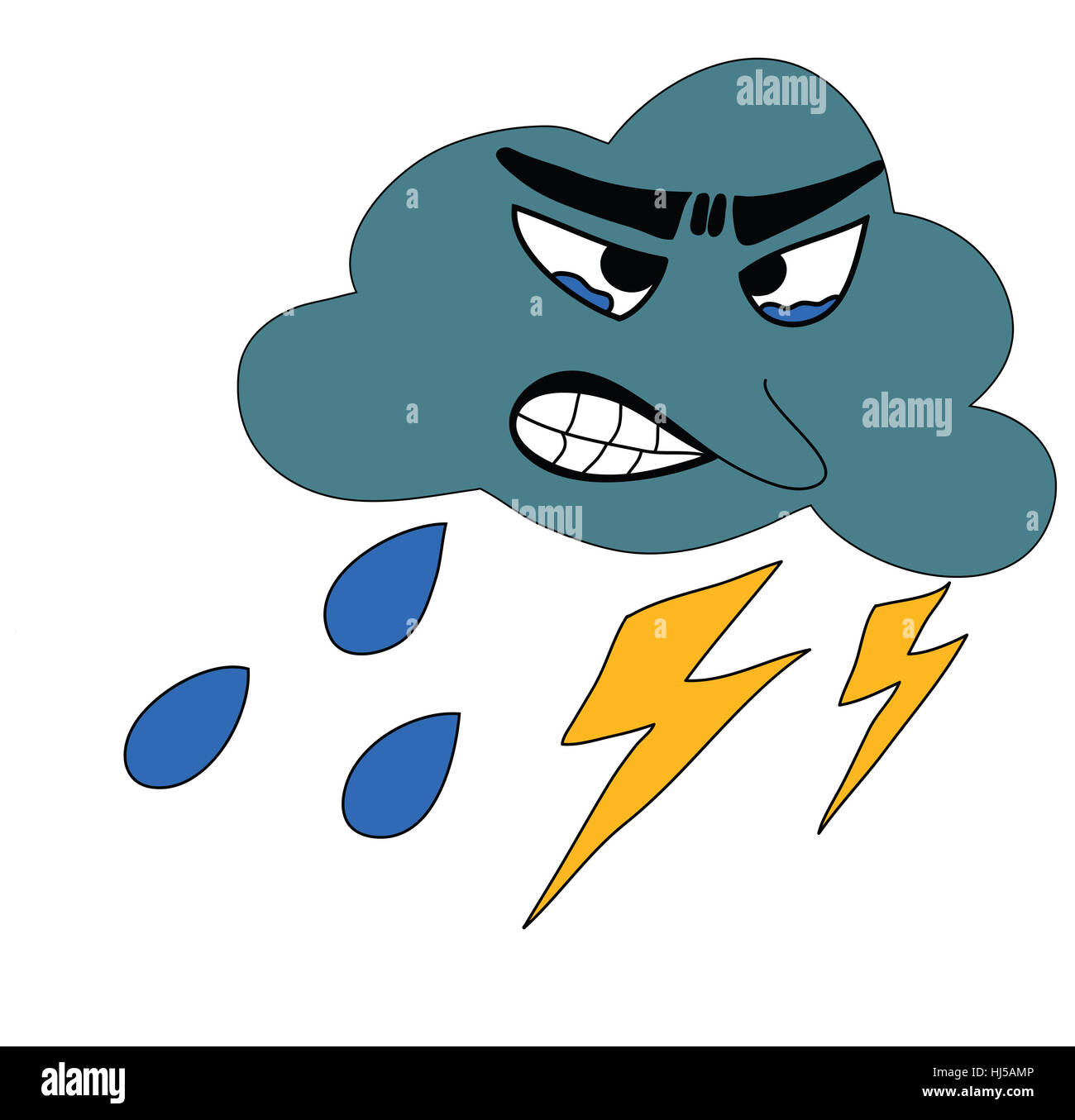 illustration thunder cloudy weather storm rain