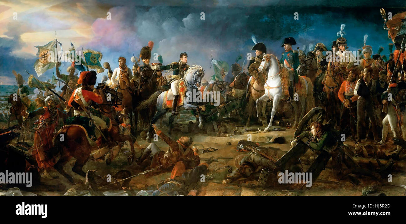Napoleon at The Battle of Austerlitz, 2nd December 1805 François Gérard - Stock Image