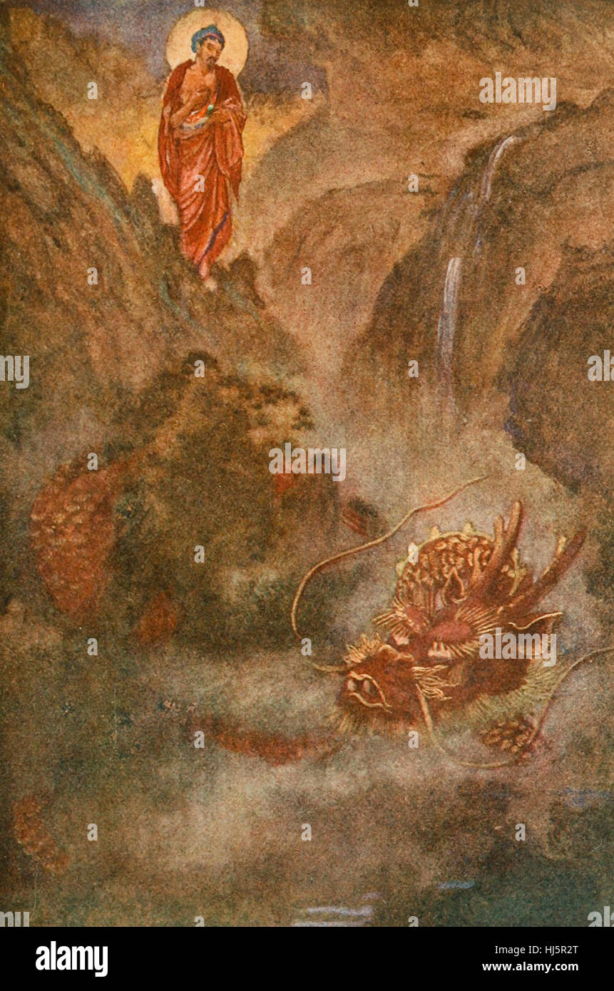 Buddha and the Dragon - Stock Image