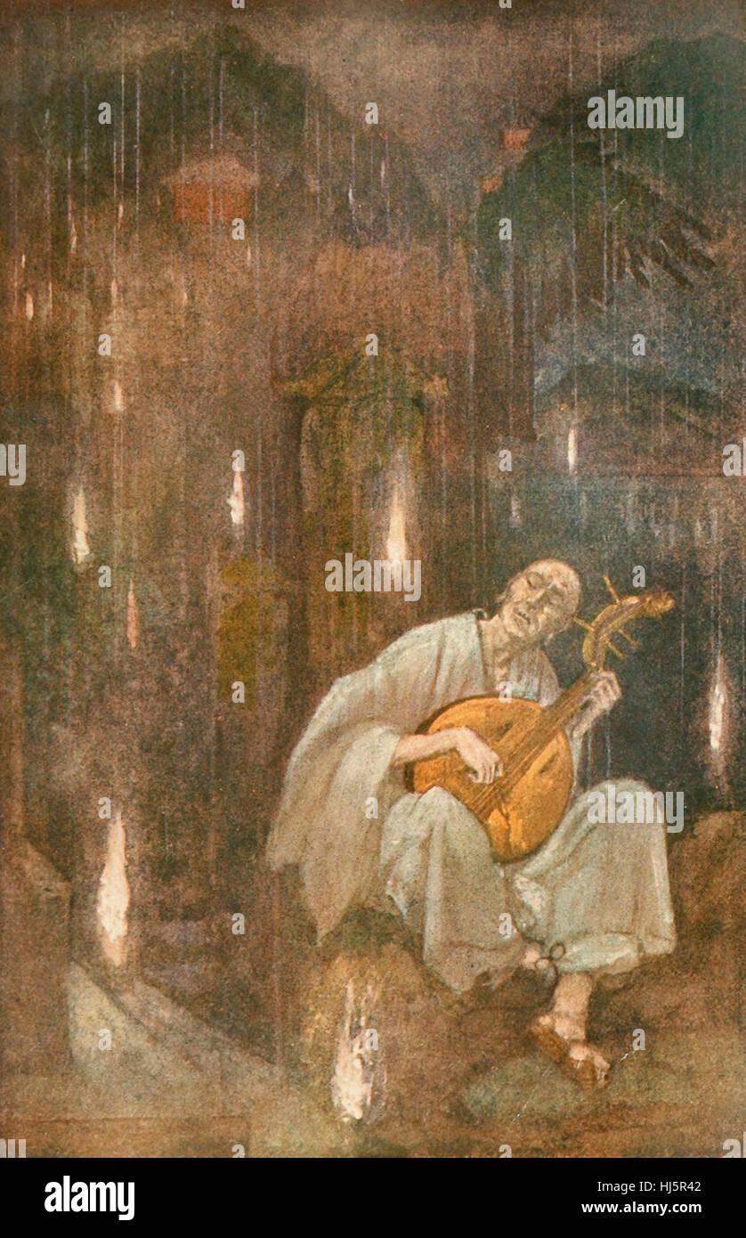 Hoichi the Earless, Japanese Mythology - Stock Image