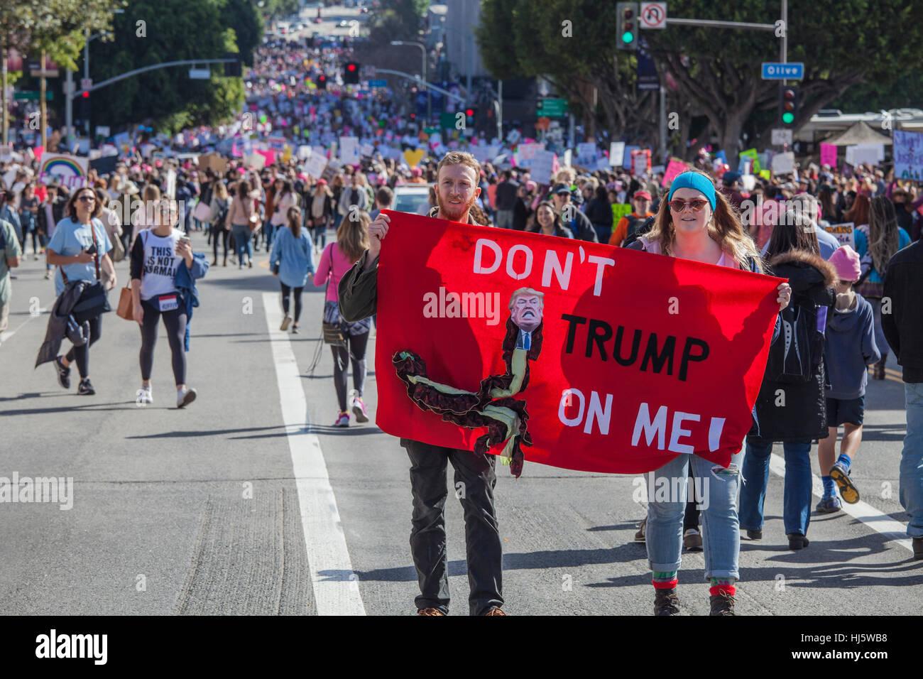 Los Angeles, California, USA. 21st January, 2017. Womens March, Los Angeles, January 21, 2017, California Credit: - Stock Image