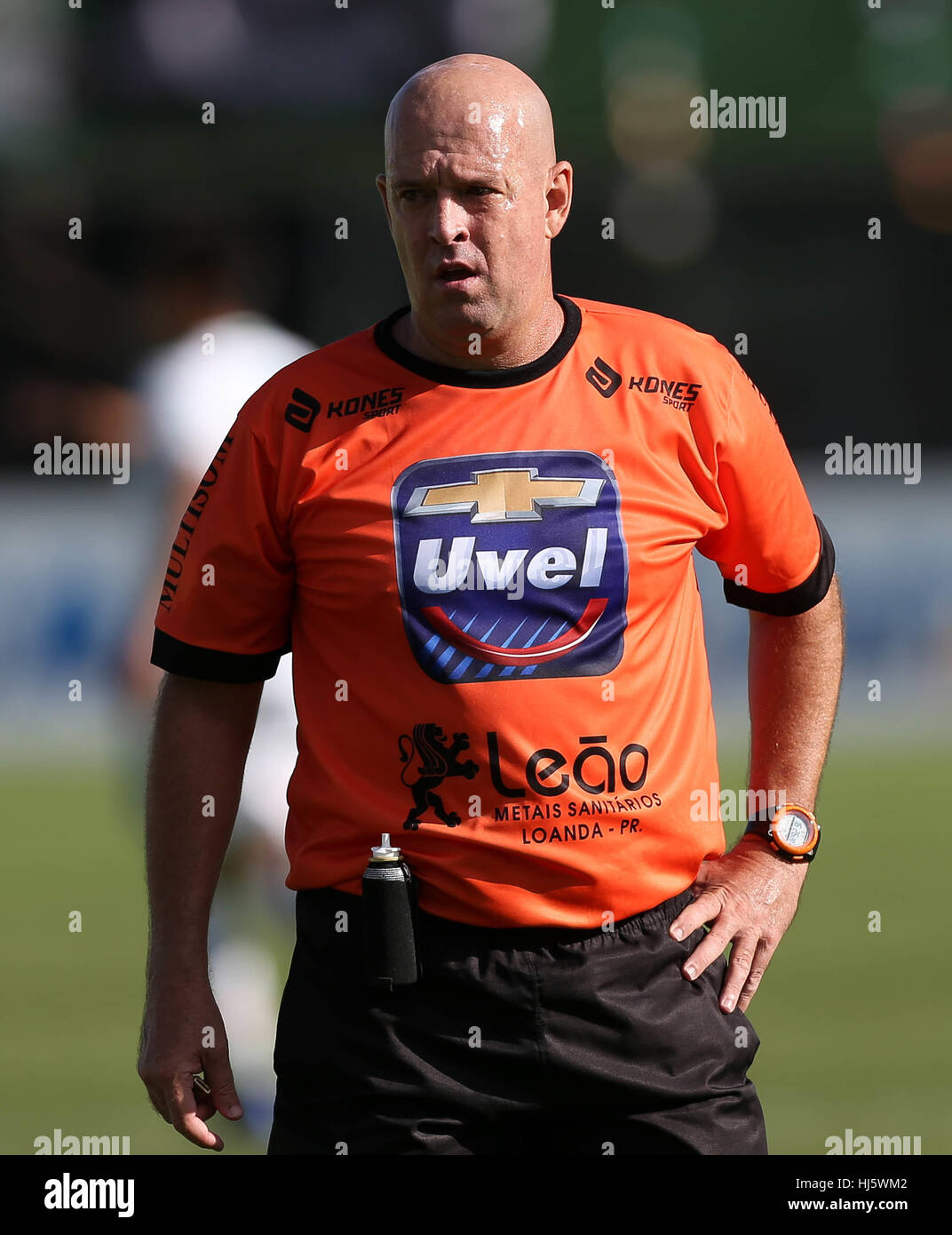 Chapec, Brazil. 21st January, 2017. The referee Eber Roberto Lopes, the match between the teams of SE Palmeiras - Stock Image