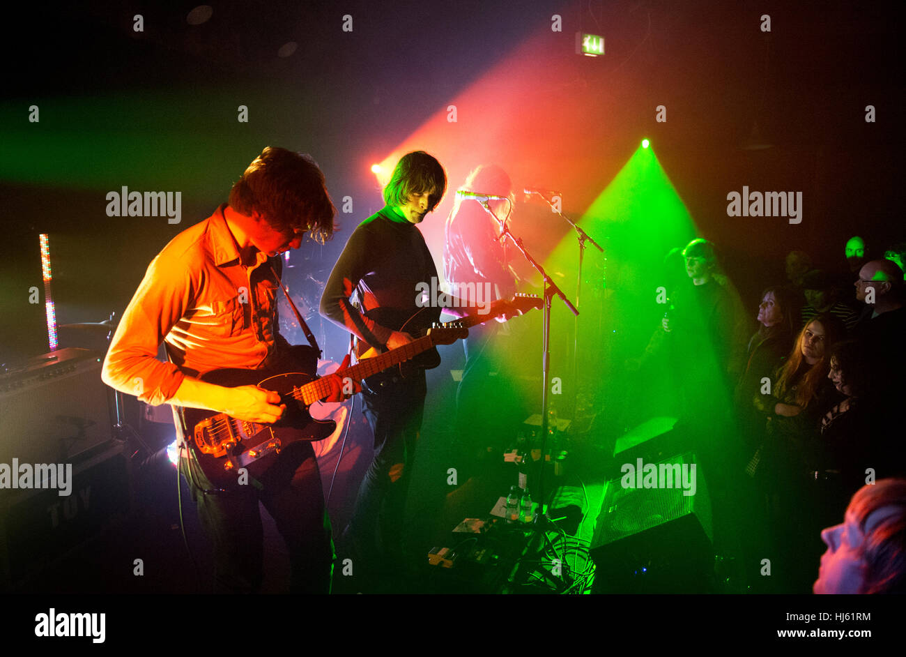 Hebden Bridge, UK. 21st January, 2017. Psychedelic rock band Toy in concert at The Trades Club, Hebden Bridge, West - Stock Image