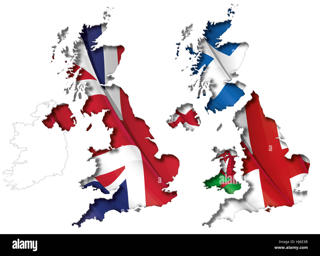 Map Of Scotland Wales And England.England Ireland Scotland Wales Map Stock Photos England Ireland