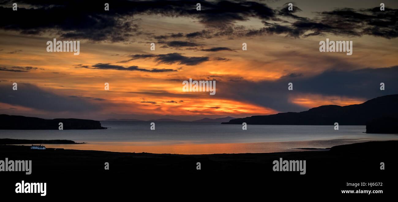 Isle Of Skye Sunset - Stock Image
