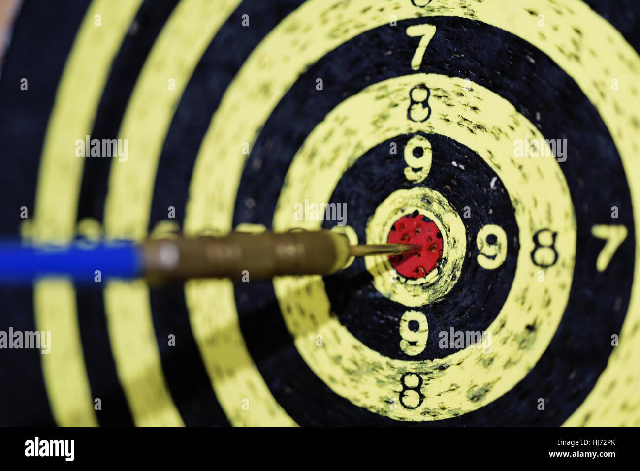 Abstract photo of darts. - Stock Image