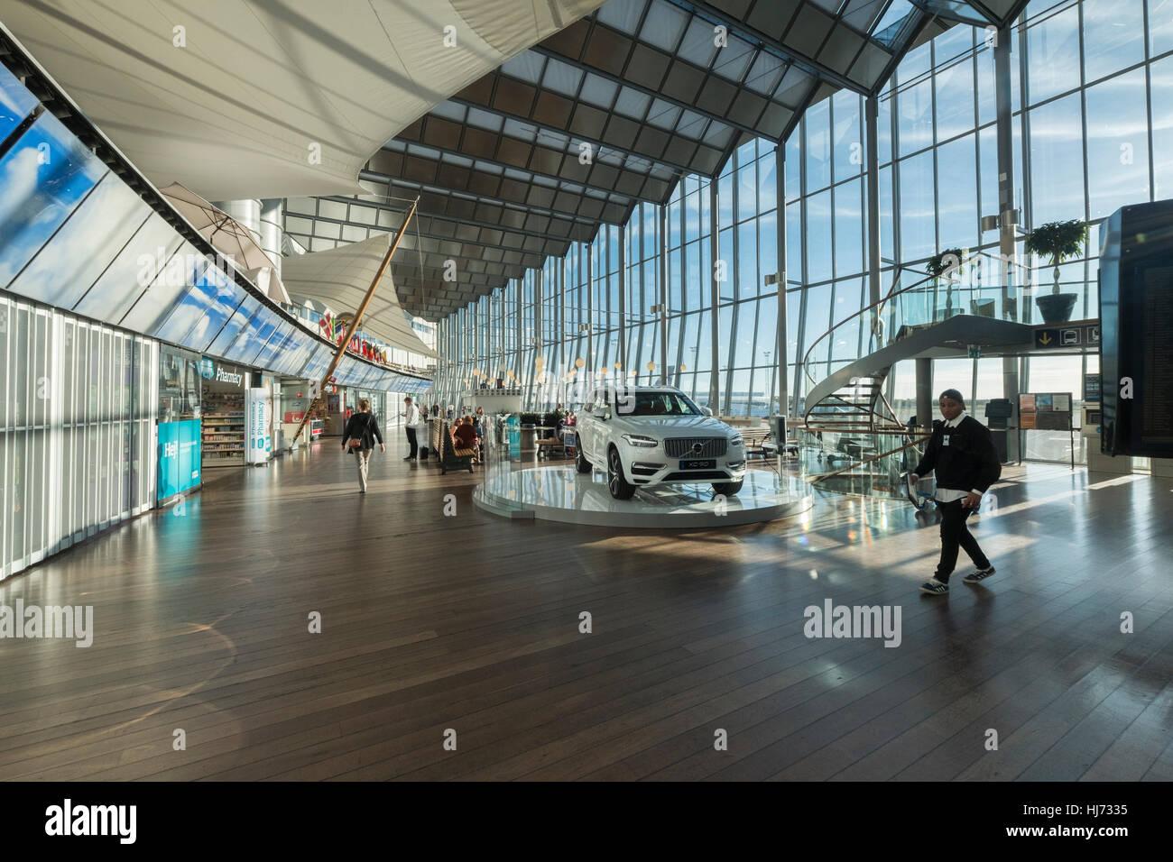 Interior From Arlanda Airport Stockholm Sweden Stock
