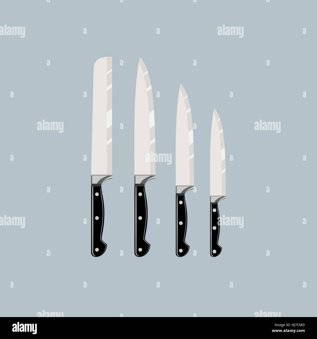 Knives Stock Vector Images - Alamy