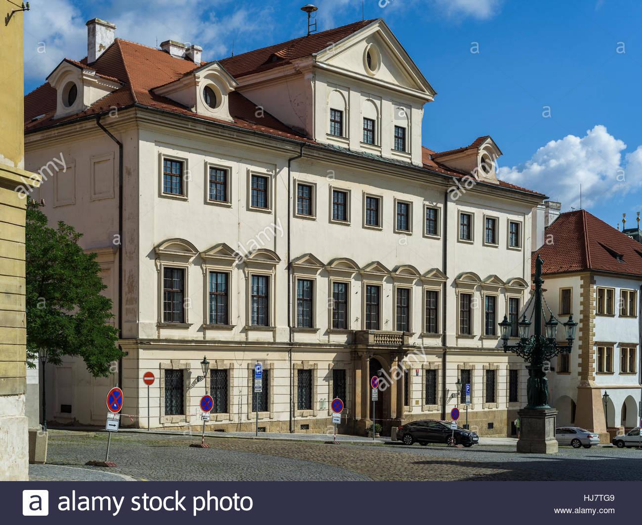 Hradní stráž Military Base, Prague - Stock Image