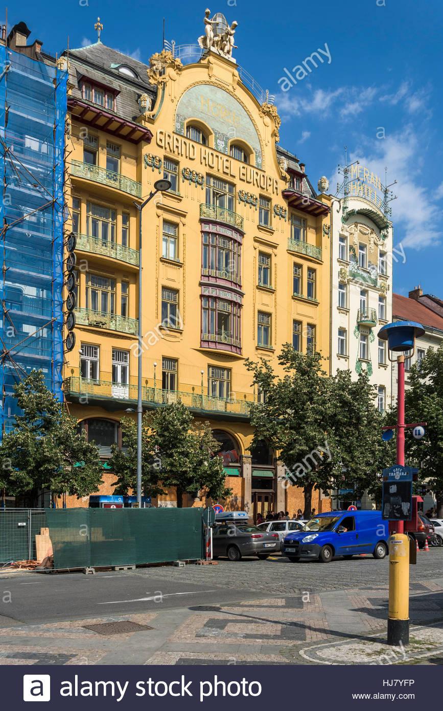 Grand Hotel Europa, Prague - Stock Image