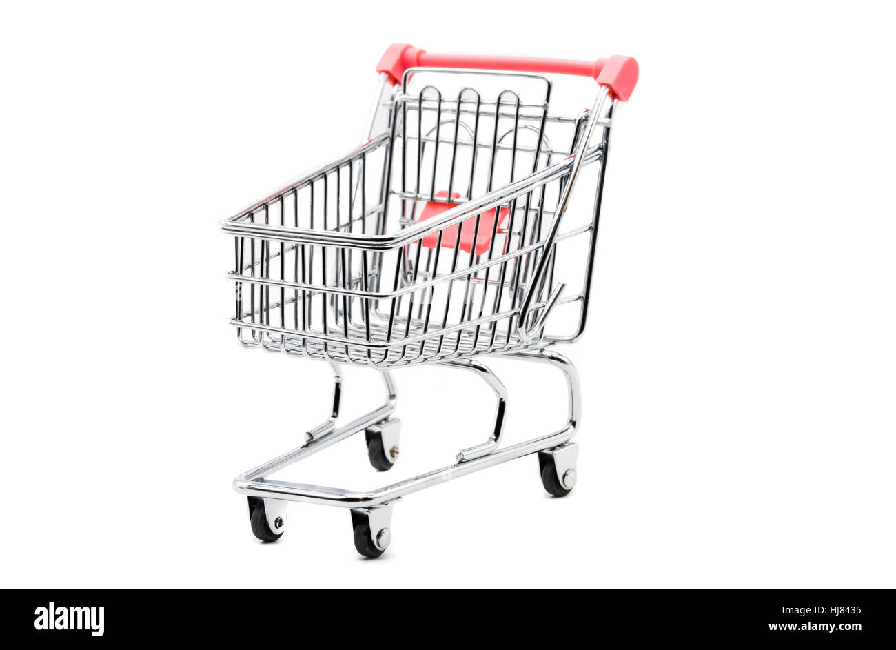 Empty shopping trolley isolated on white Stock Photo