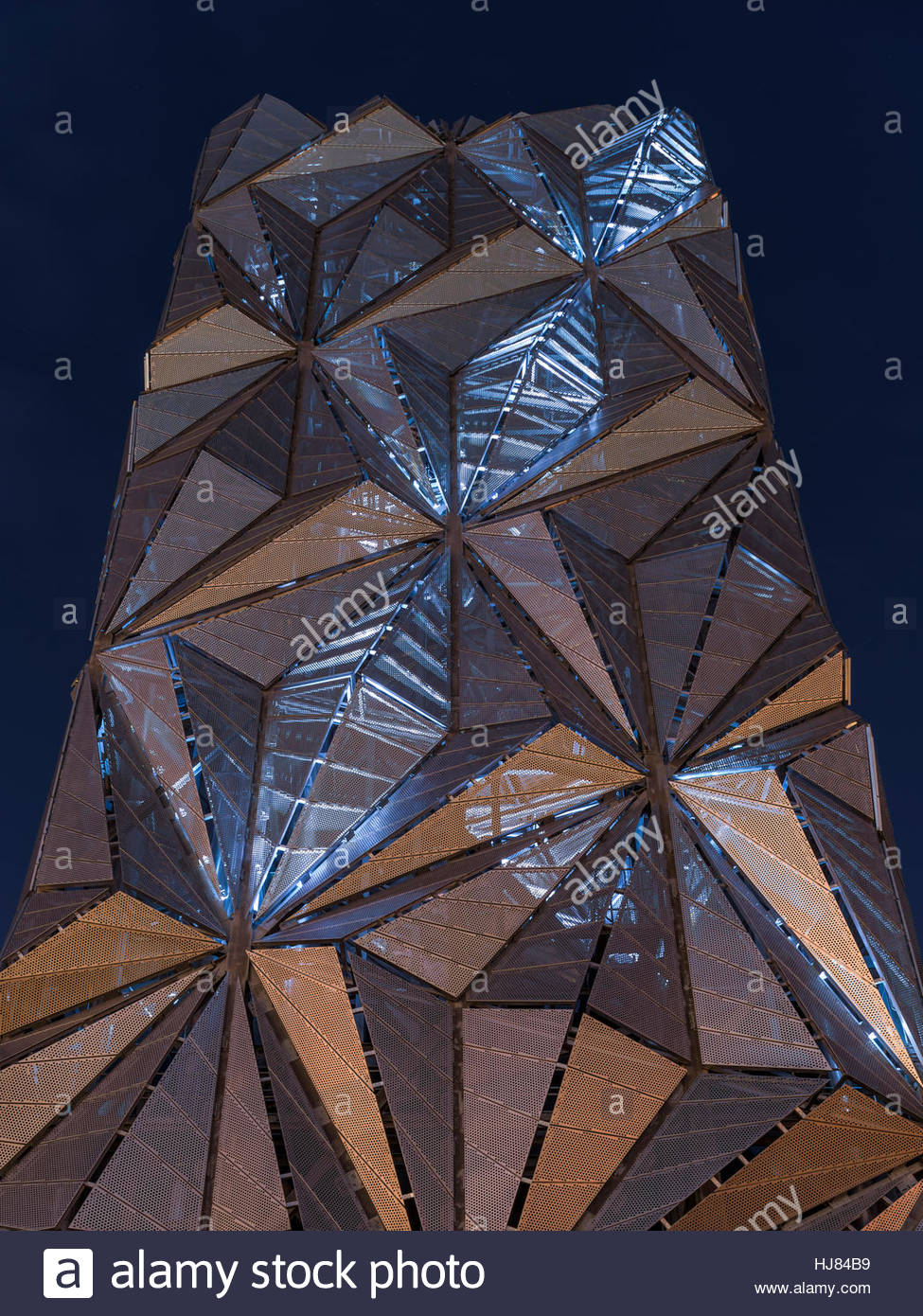 The Optic Cloak, Greenwich Peninsula Energy Centre - Stock Image