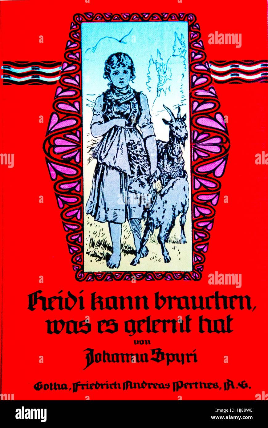 Cover of Johanna Spyri, Heidi (german edition); Stock Photo