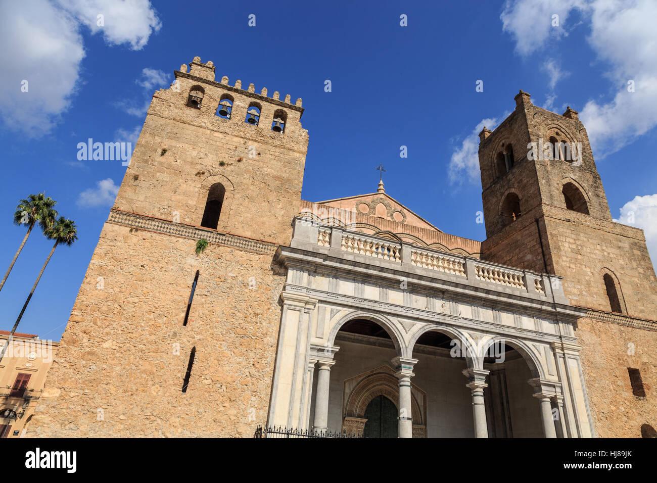 Duomo of Monreale, Sicily - Stock Image