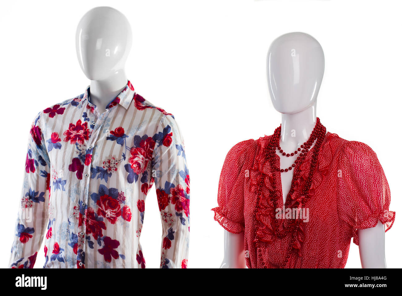 6b8166f7b48e Shirt and sarafan on mannequins Stock Photo  131719968 - Alamy